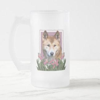 Día de madres - tulipanes rosados - Dingo Taza De Cristal