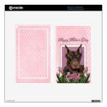 Día de madres - tulipanes rosados - Doberman - roj Pegatina Skin Para Kindle Fire