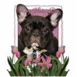 Día de madres - tulipanes rosados - dogo francés - esculturas fotograficas