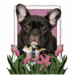 Día de madres - tulipanes rosados - dogo francés - esculturas fotográficas