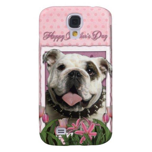 Día de madres - tulipanes rosados - dogo funda para galaxy s4