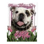 Día de madres - tulipanes rosados - dogo postal