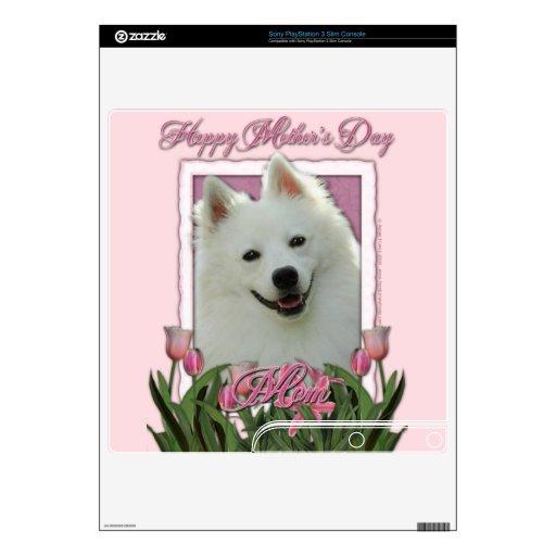 Día de madres - tulipanes rosados - esquimal ameri skins para elPS3 slim