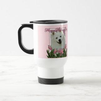 Día de madres - tulipanes rosados - esquimal ameri tazas de café