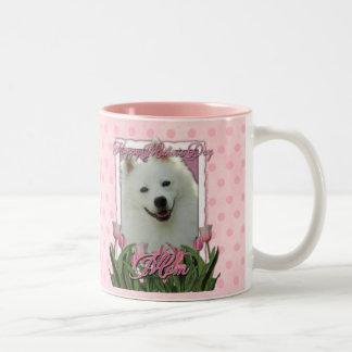 Día de madres - tulipanes rosados - esquimal ameri taza