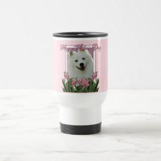 Día de madres - tulipanes rosados - esquimal ameri taza de café