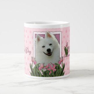 Día de madres - tulipanes rosados - esquimal ameri taza grande