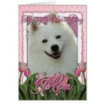 Día de madres - tulipanes rosados - esquimal tarjeta de felicitación