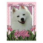 Día de madres - tulipanes rosados - esquimal postal