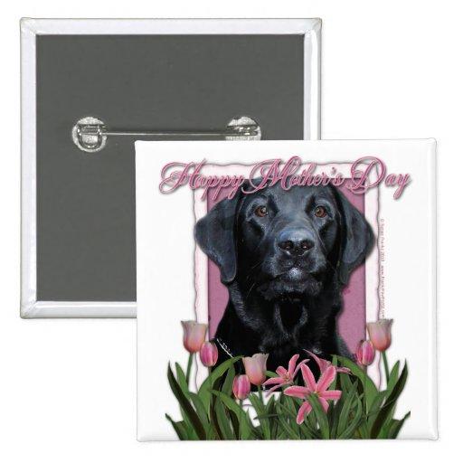 Día de madres - tulipanes rosados - Labrador - neg Pins