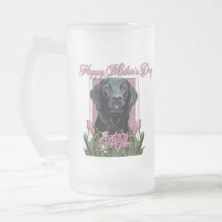 Día de madres - tulipanes rosados - Labrador - Taza De Cristal