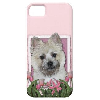 Día de madres - tulipanes rosados - mojón - oso de iPhone 5 Case-Mate fundas