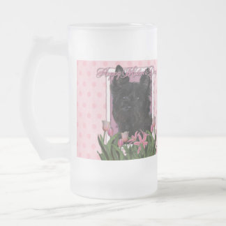 Día de madres - tulipanes rosados - mojón Terrier Taza De Cristal