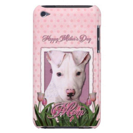 Día de madres - tulipanes rosados - perrito de Pit iPod Case-Mate Protector
