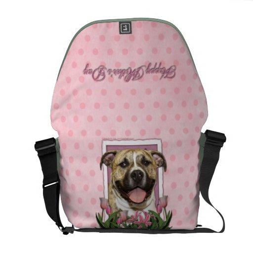 Día de madres - tulipanes rosados - Pitbull - Tigg Bolsas De Mensajeria
