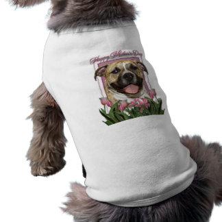 Día de madres - tulipanes rosados - Pitbull - Tigg Playera Sin Mangas Para Perro