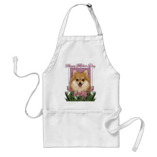 Día de madres - tulipanes rosados - Pomeranian Delantales