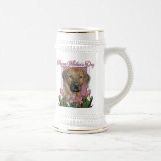 Día de madres - tulipanes rosados - Rhodesian Jarra De Cerveza