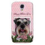 Día de madres - tulipanes rosados - Schnauzer