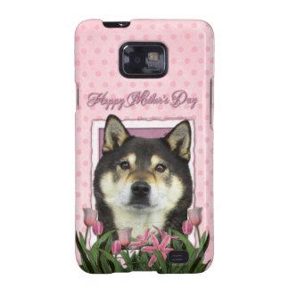 Día de madres - tulipanes rosados - Shiba Inu - Samsung Galaxy SII Carcasas