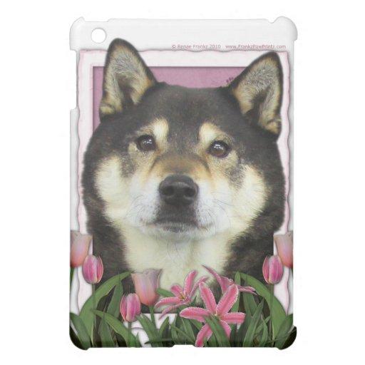 Día de madres - tulipanes rosados - Shiba Inu - Ya