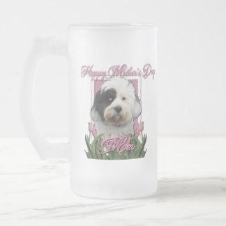 Día de madres - tulipanes rosados - Terrier Taza De Cristal