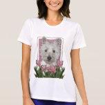 Día de madres - tulipanes rosados - Westie Camisetas