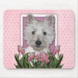 Día de madres - tulipanes rosados - Westie Tapetes De Raton