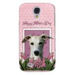 Día de madres - tulipanes rosados - Whippet