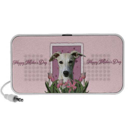 Día de madres - tulipanes rosados - Whippet Laptop Altavoz