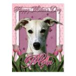 Día de madres - tulipanes rosados - Whippet Postal