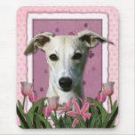 Día de madres - tulipanes rosados - Whippet Tapete De Raton