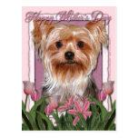 Día de madres - tulipanes rosados - Yorkshire Postal