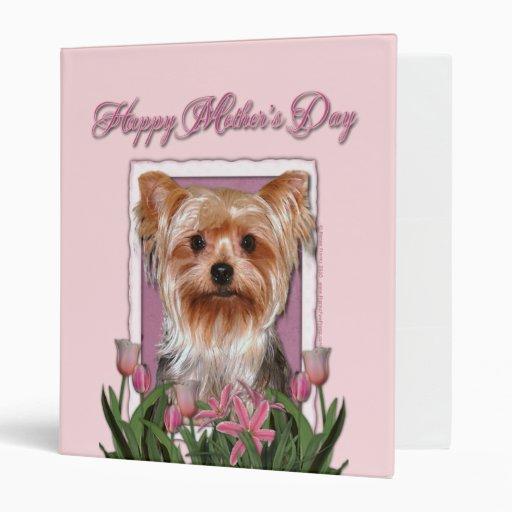 """Día de madres - tulipanes rosados - Yorkshire Terr Carpeta 1"""""""