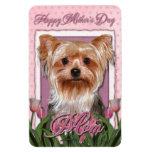 Día de madres - tulipanes rosados - Yorkshire Terr Imanes Flexibles