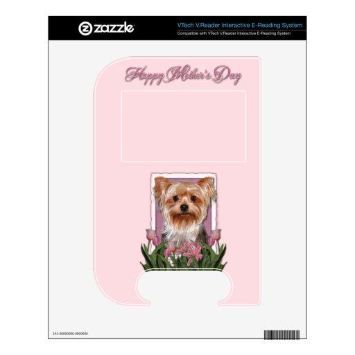 Día de madres - tulipanes rosados - Yorkshire Terr VTech V.Reader Calcomanías