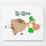 Día de McMoo St Patrick Tapete De Ratón