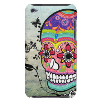 Día de Muerte de la caja artística del cráneo muer iPod Case-Mate Carcasa