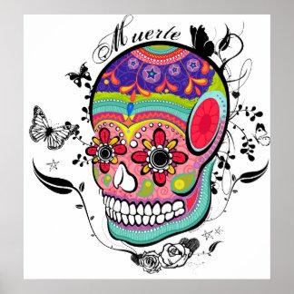 Día de Muerte del cráneo muerto Impresiones