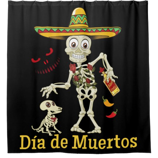 DIA DE MUERTOS DAY OF THE DEAD SHOWER CURTAIN