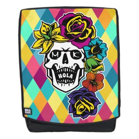 Dia de Muertos Day of the Dead Sugar Skull Custom Backpack
