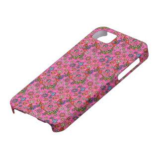 Día de muertos - flores rosadas azucare el cráneo  iPhone 5 cobertura