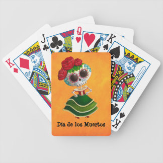 Dia de Muertos Mexican Miss Death Bicycle Playing Cards
