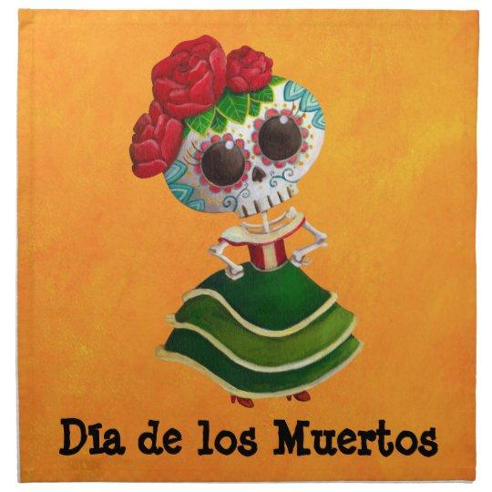 Dia de Muertos Mexican Miss Death Cloth Napkin