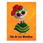 Dia de Muertos Mexican Miss Death Post Cards