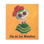Dia de Muertos Mexican Miss Death Scratch Pad