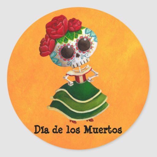 Dia de Muertos Mexican Miss Death Sticker