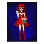 Dia De Muertos Red Riding Hood Postcards