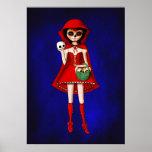Dia De Muertos Red Riding Hood Posters
