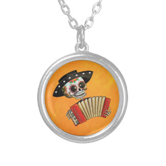 Dia de Muertos Skeleton Musician Pendant